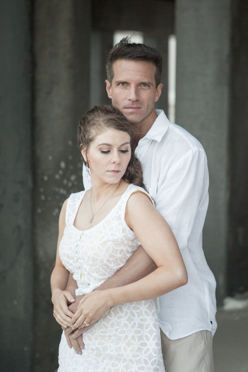 Sara Sigler and Chris Hickey engagement session photo.