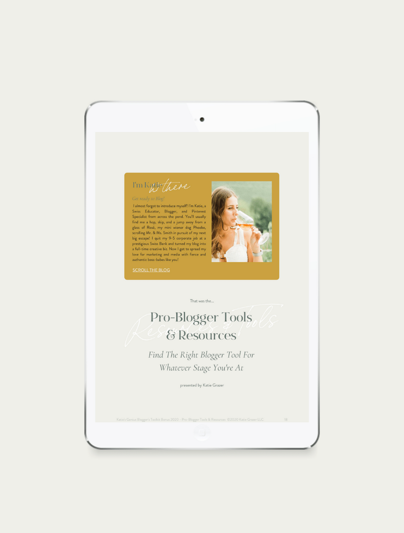 Pro Blogger Tools + Resources - SHOP Image 3