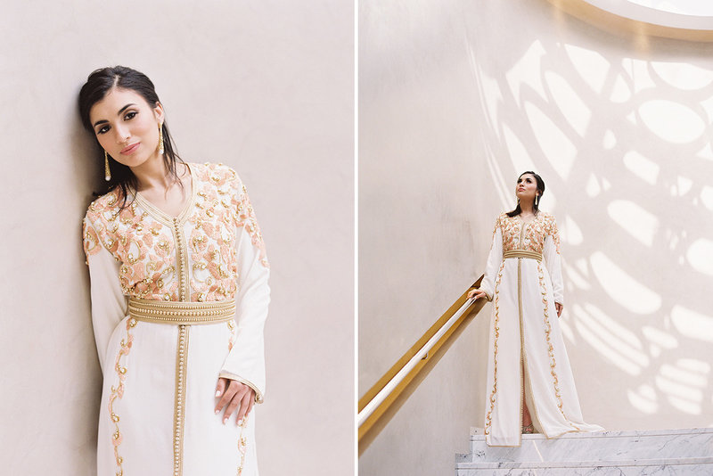 sarah hannam four seasons casablanca wedding kaftan 8