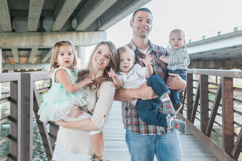 Austin Family Photographer, Tiffany Chapman, family on bridge photo