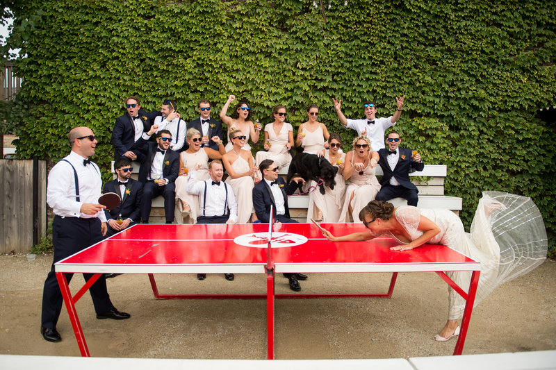 chicago-wedding-party-playing-pingpong