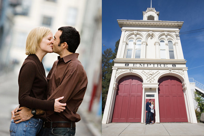 San Jose History Park, Engaged, Engagement Pictures, Jennifer Baciocco Photography, fire station