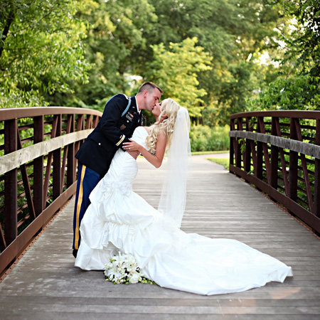 Military wedding in Kansas City absolutely loves their wedding pictures