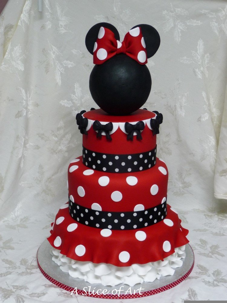 mimmie mouse birthday cake
