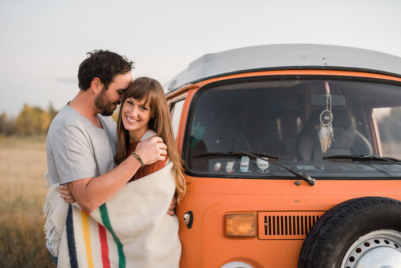 Red Deer Photographers-Raelene Schulmeister Photography- engagement photos-vw bus-Circle Square Ranch engagement photos