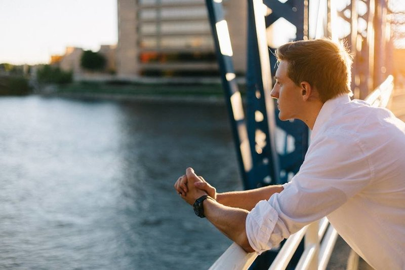 Downtown Grand Rapids Senior Portrait by Sidney Baker-Green