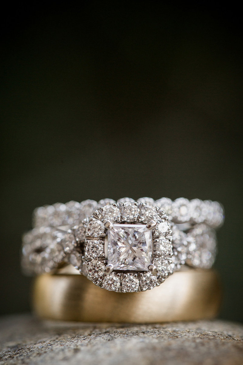 Wedding rings at Holston Hills Country Club Wedding Venue by Knoxville Wedding Photographer, Amanda May Photos.