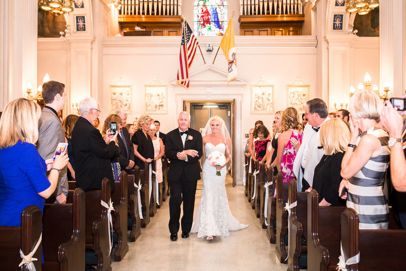 Processional in Spring Lake NJ Wedding