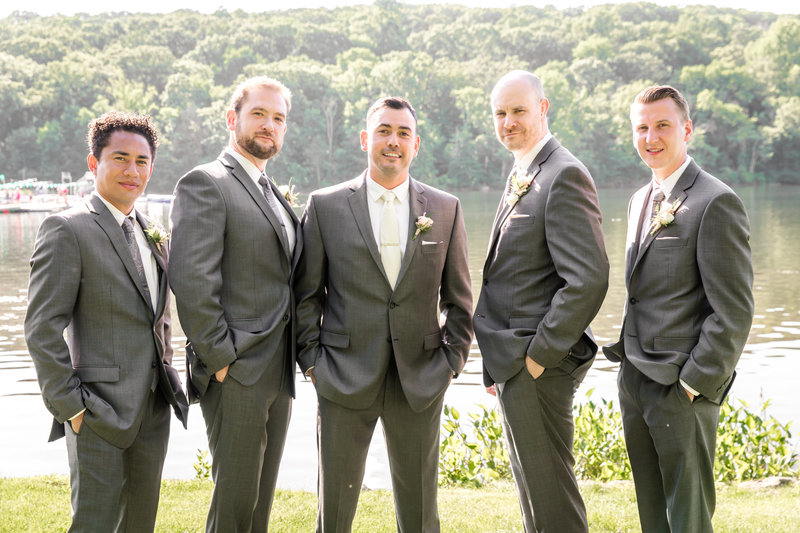 Groomsmen photo at Lake Valhalla