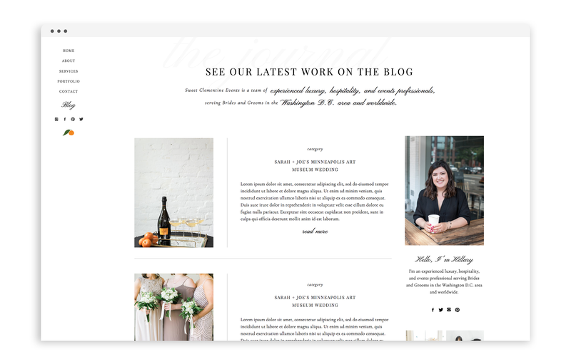 With Grace and Gold - Branding, Web Design, and Education for Creative Women in Business - Sweet Clementine Events - 1