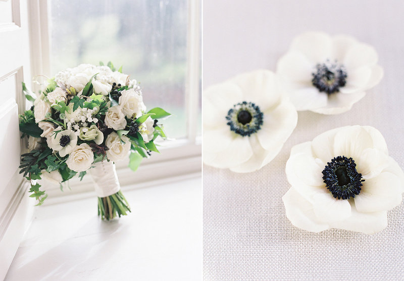 sarah hannam bradley house wiltshire wedding film photographer flowers bouquet