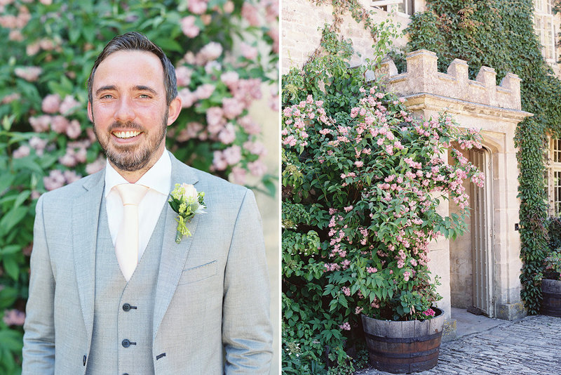 sarah hannam barnsley house cotswolds wedding film photographer groom