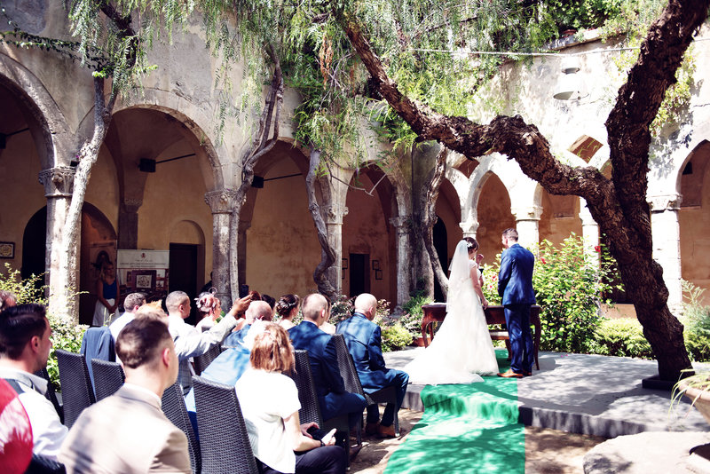 Elopement Destination Wedding Photographer The San Francesco Cloisters Sorrento Italy