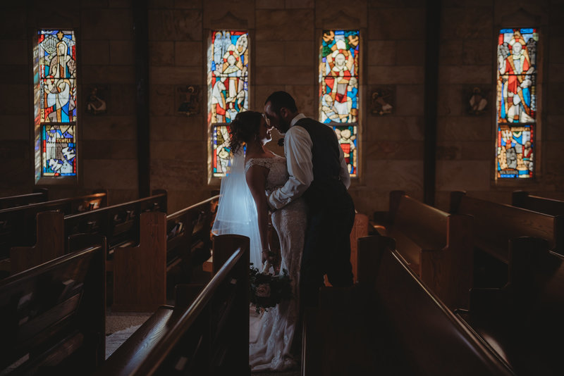 wedding church stained glass photographer