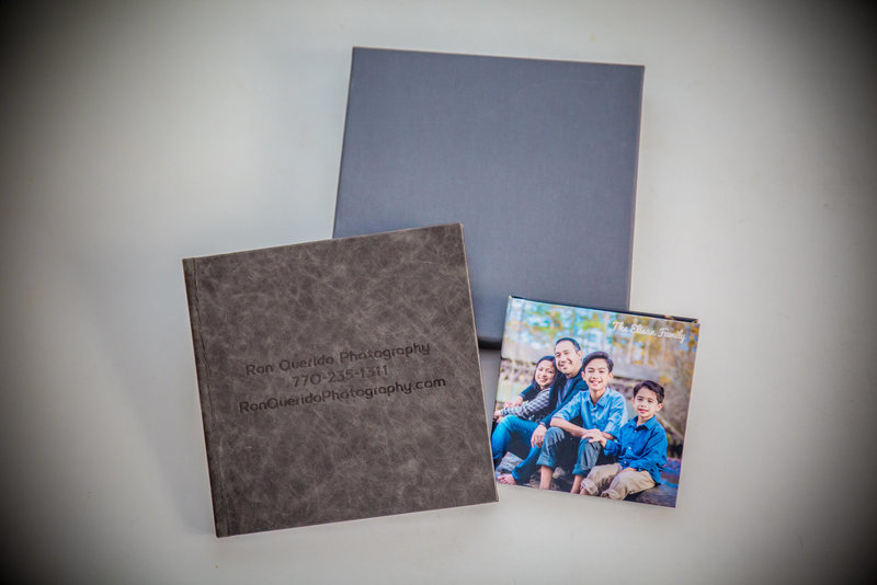 Leather luxury family photo album archival quality