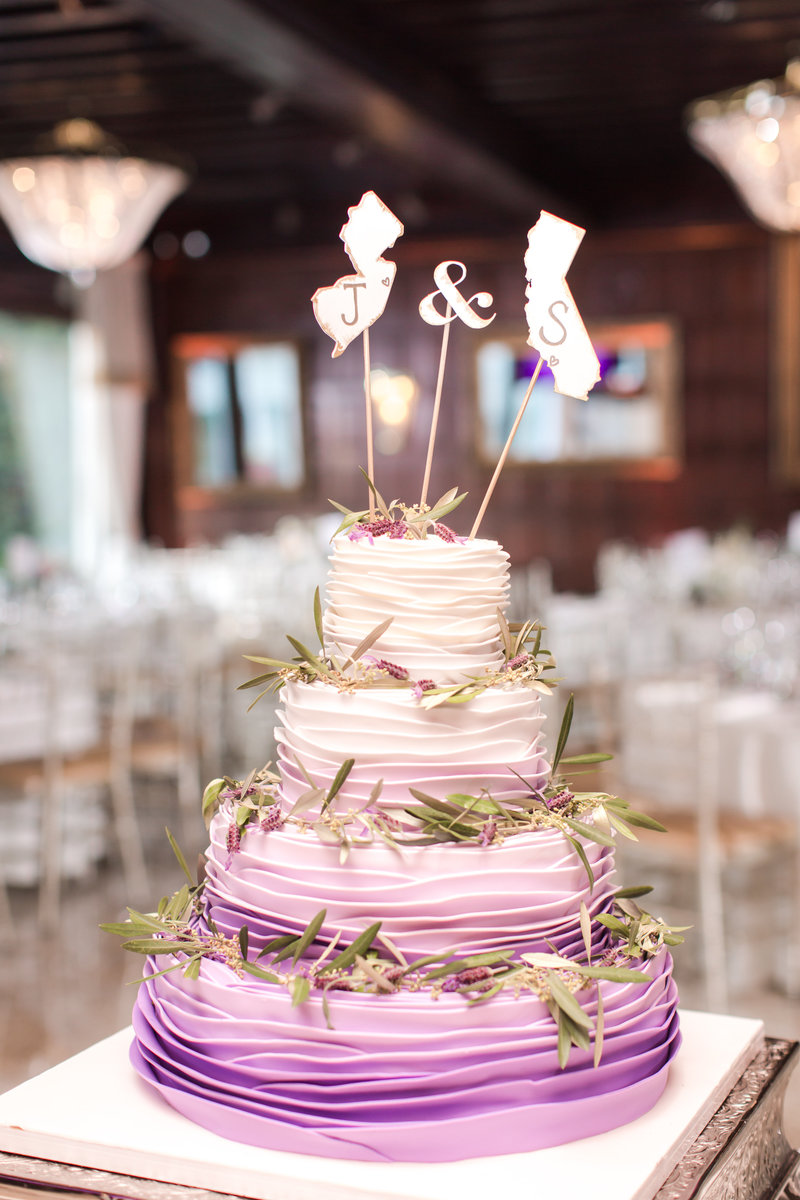 Ombre wedding cake by Palermo's Bakery
