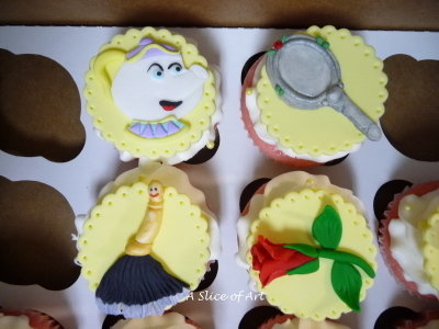 beauty and beast cupcake toppers