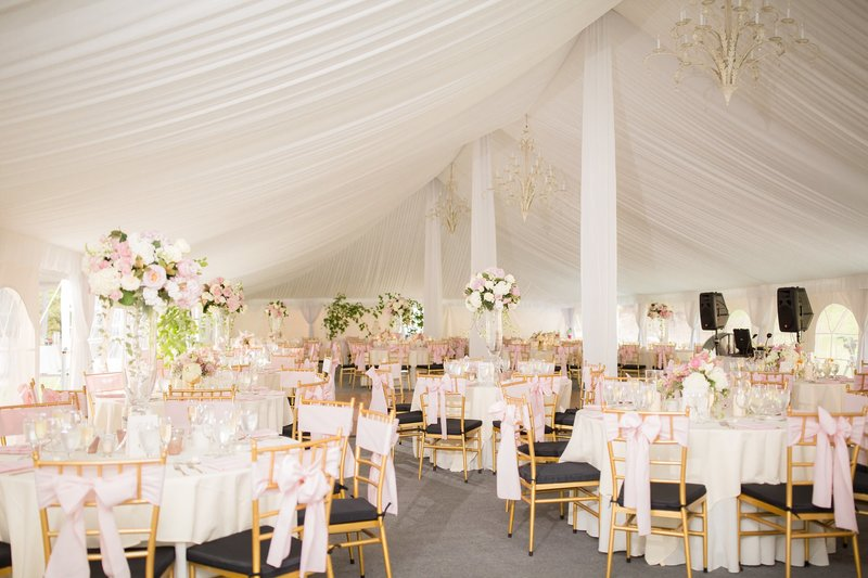 Vermont destination wedding tented reception