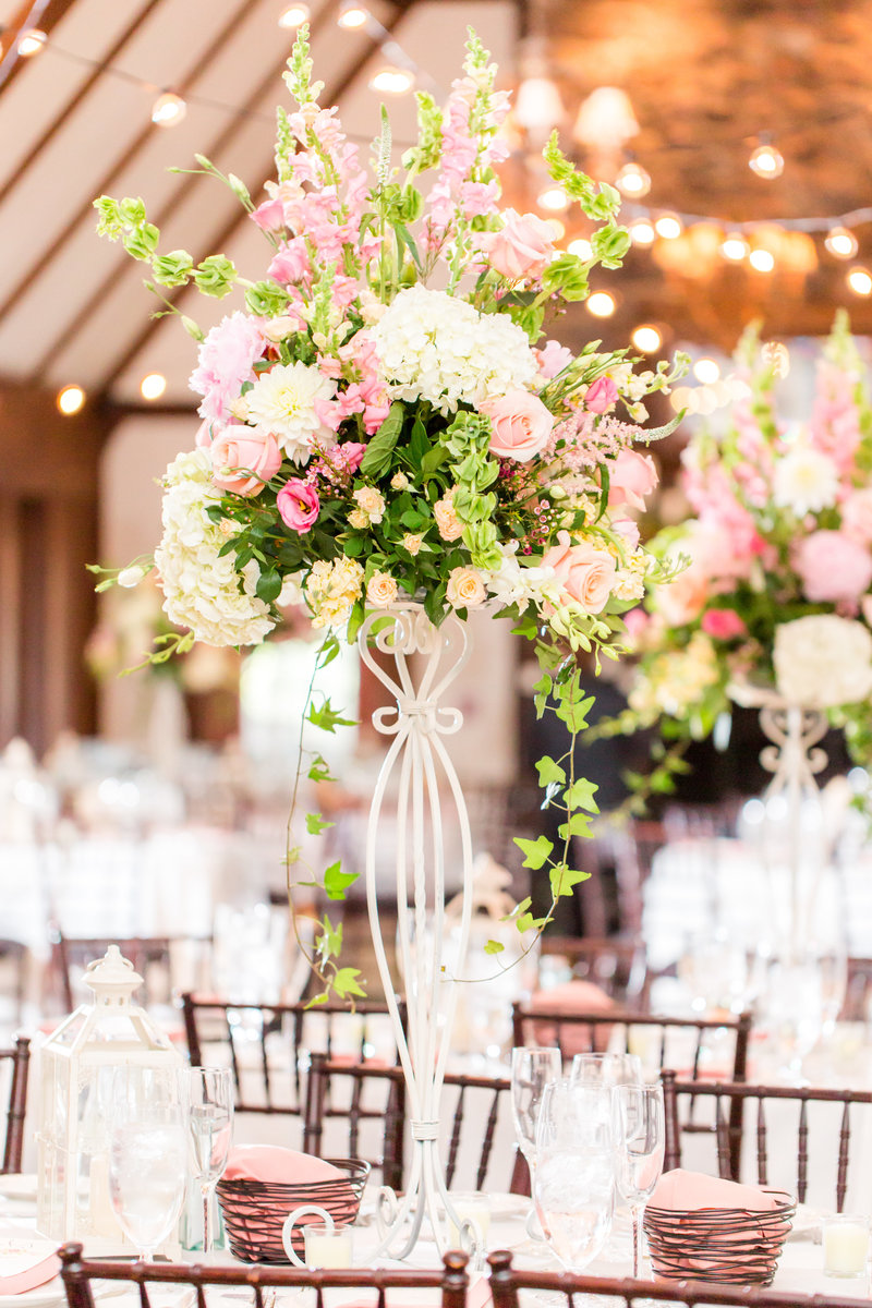 Center piece ideas for Lake Valhalla Club Wedding
