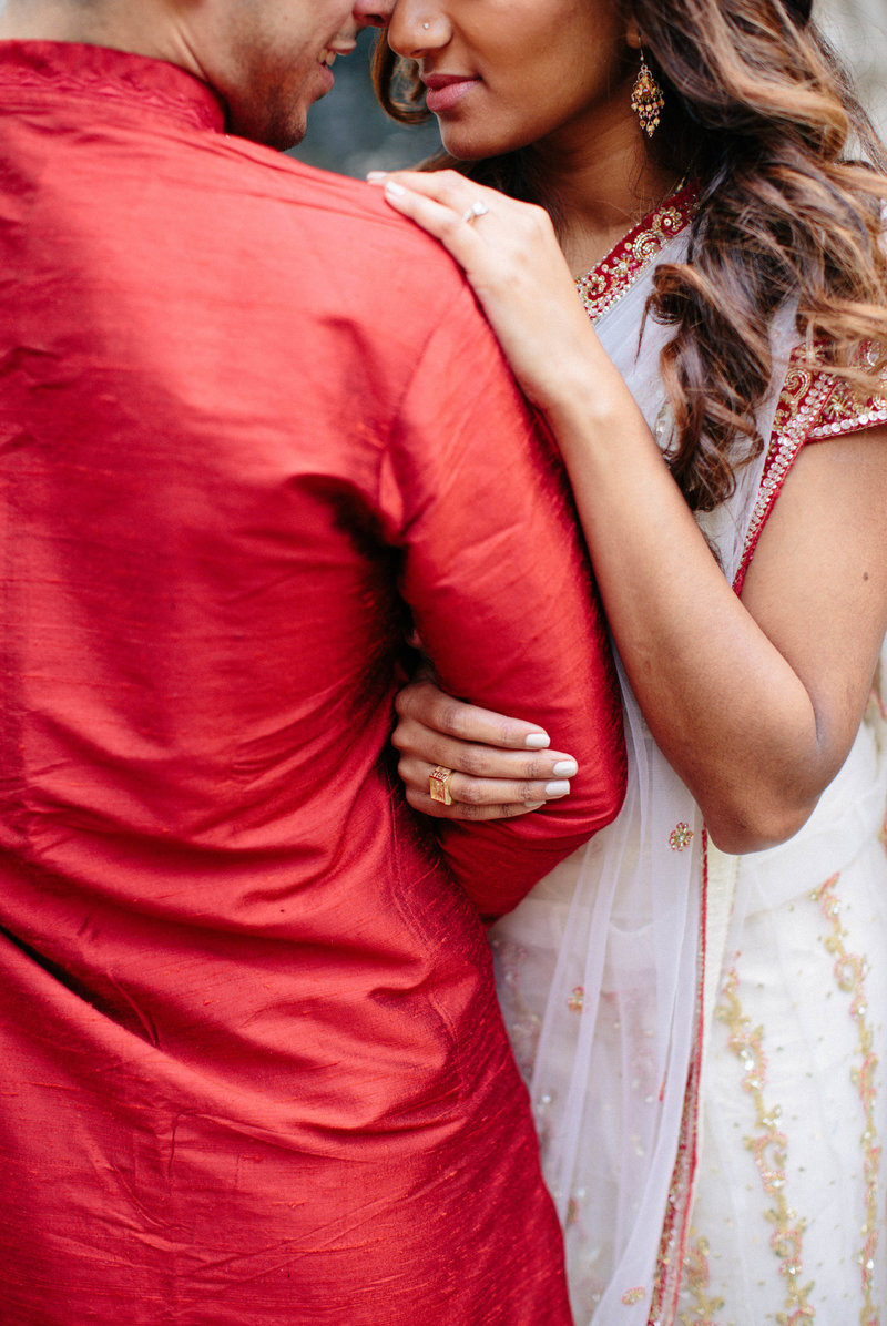 boston-engagement-session-indian-engagement-sari-professional hair and makeup-