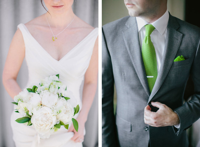 green-wedding-details