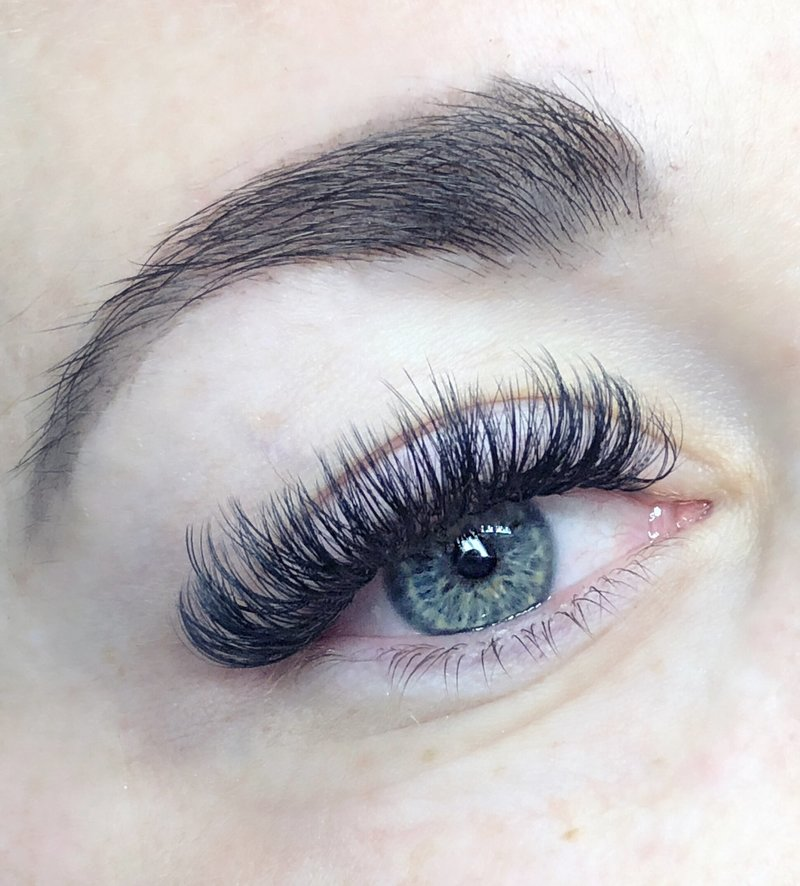 brow tint and lashes