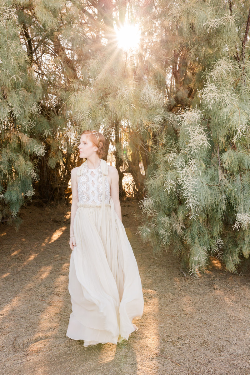 Joshua Tree Sunset Portrait | Clara Ann Photography | Joshua Tree Wedding Photographer