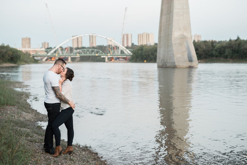 Red Deer Photographers-Raelene Schulmeister Photography- engagement photos-north saskatchewan river engagement session
