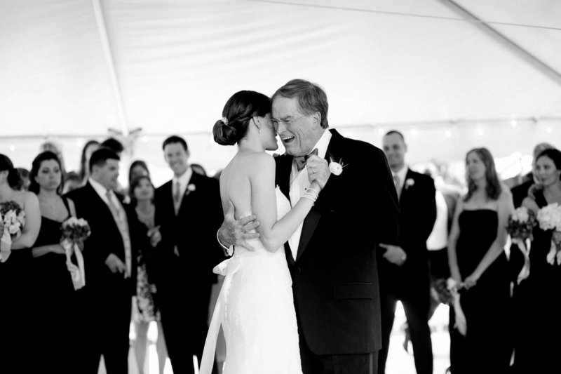 Bride and father dance, Kings Creek Country Club, Rehoboth Beach, Delaware