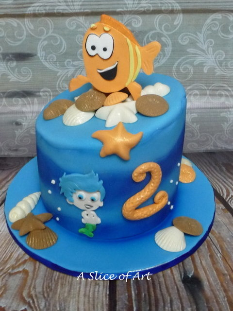wonky fish birthday cake
