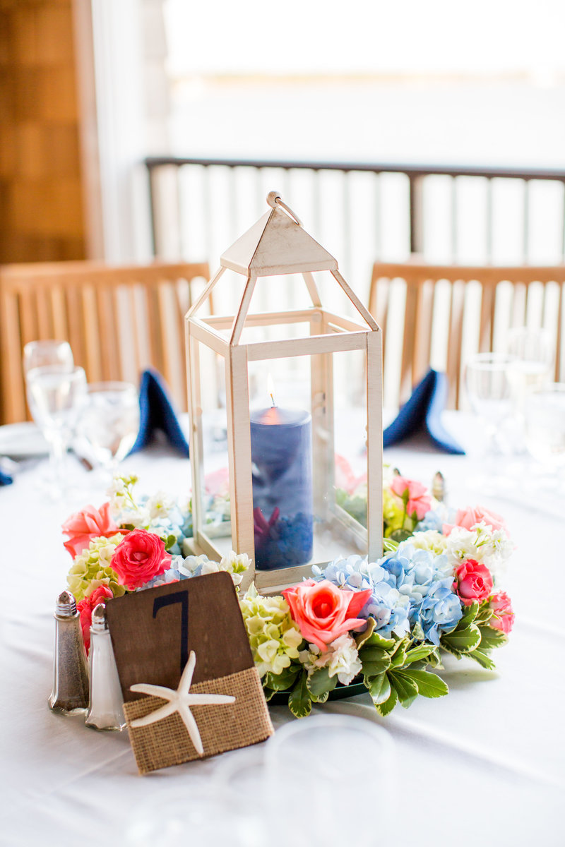 Rumson Country Club Wedding Center pieces