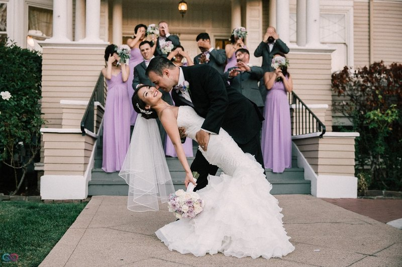 Wedding Party PHotos in Downtown Sacramento