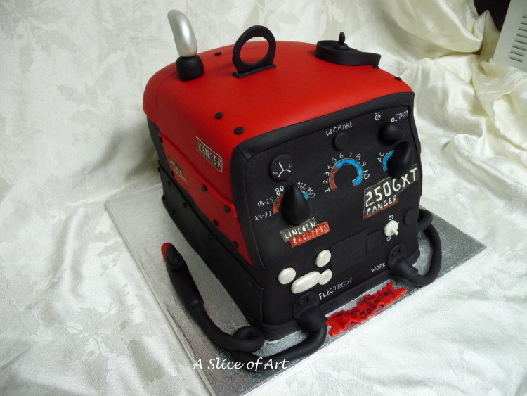 welding birthday cake