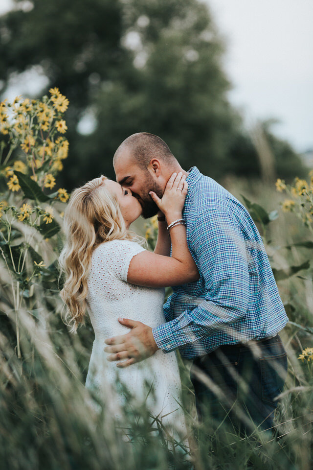 Abby and Trevor were the cutest engaged couple at Prairie Lakes Park!