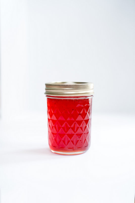 homemade prickly pear strawberry jelly