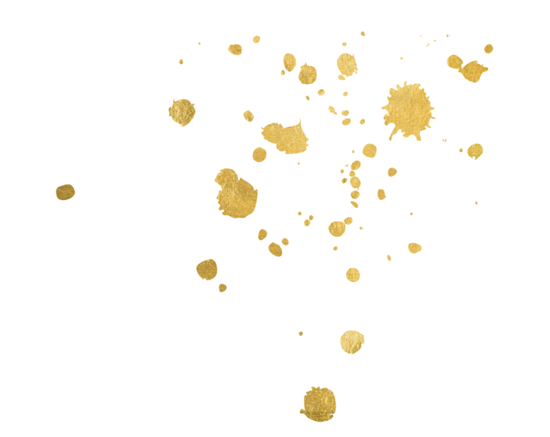 gold splatter