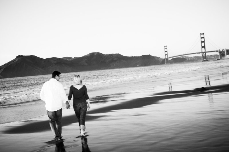 Baker Beach Engagement Session, Engaged, Engagement Photography, Jennifer Baciocco Photography
