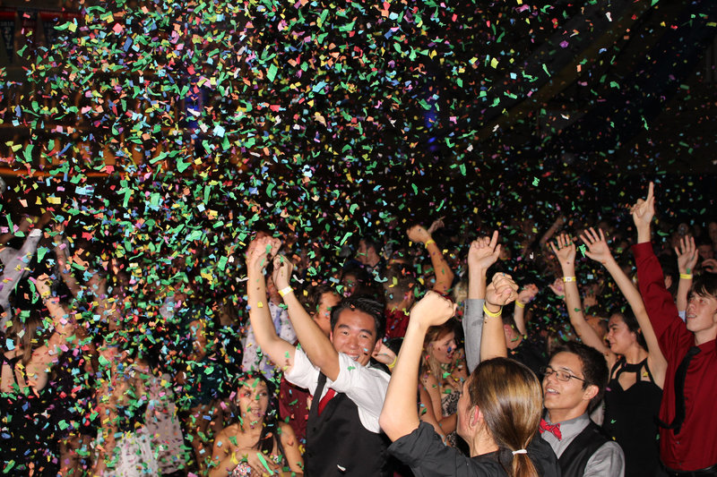 We love confetti at school dances!