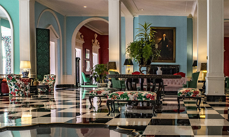 Lobby of the Greenbrier by Dorothy Draper