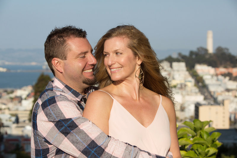 Coit Tower Engagement Session, Lombard Street Engagement Session, Engaged, Engagement Photography, Jennifer Baciocco Photography