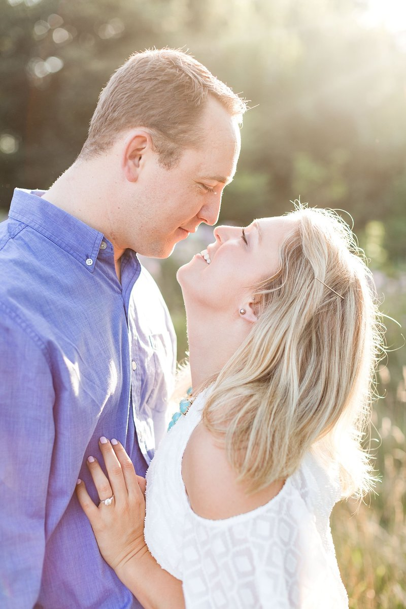 Chicago Summer Engagement Photographer at Montrose Bird Sanctuary during Golden Hour