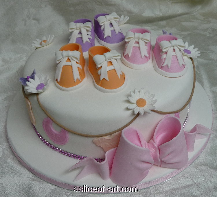 baby shower shoe cake