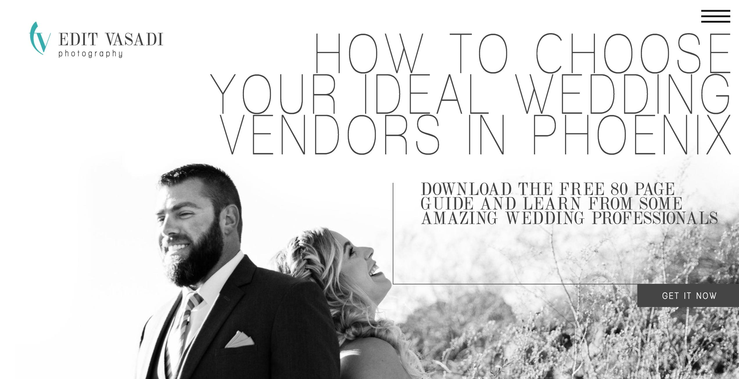 how to choose your wedding vendors e-book