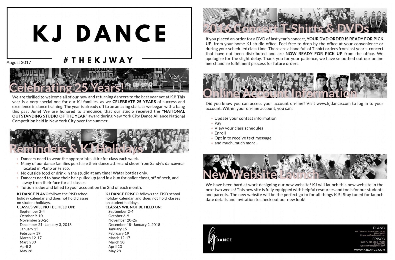 Schedule   KJ Dance   Frisco and Plano, Texas Dance Studio