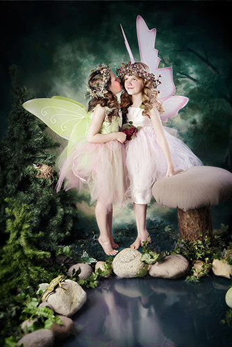 Enchantment fairy photography-whispering sisters