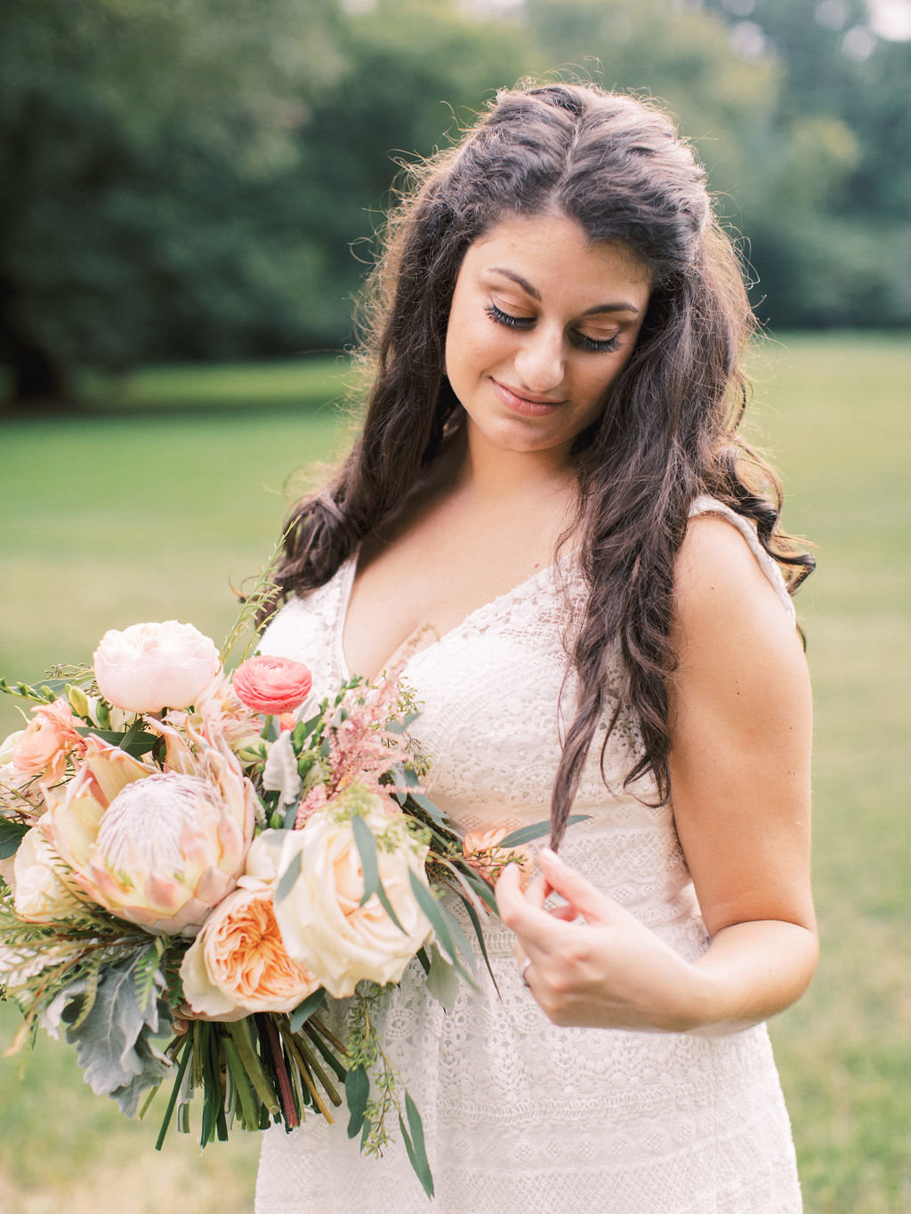 bride greenville country club delaware bridal bouquet A Styled Fete