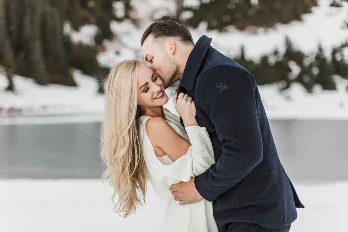 Snowy Mount Rainier Engagement Photos-27