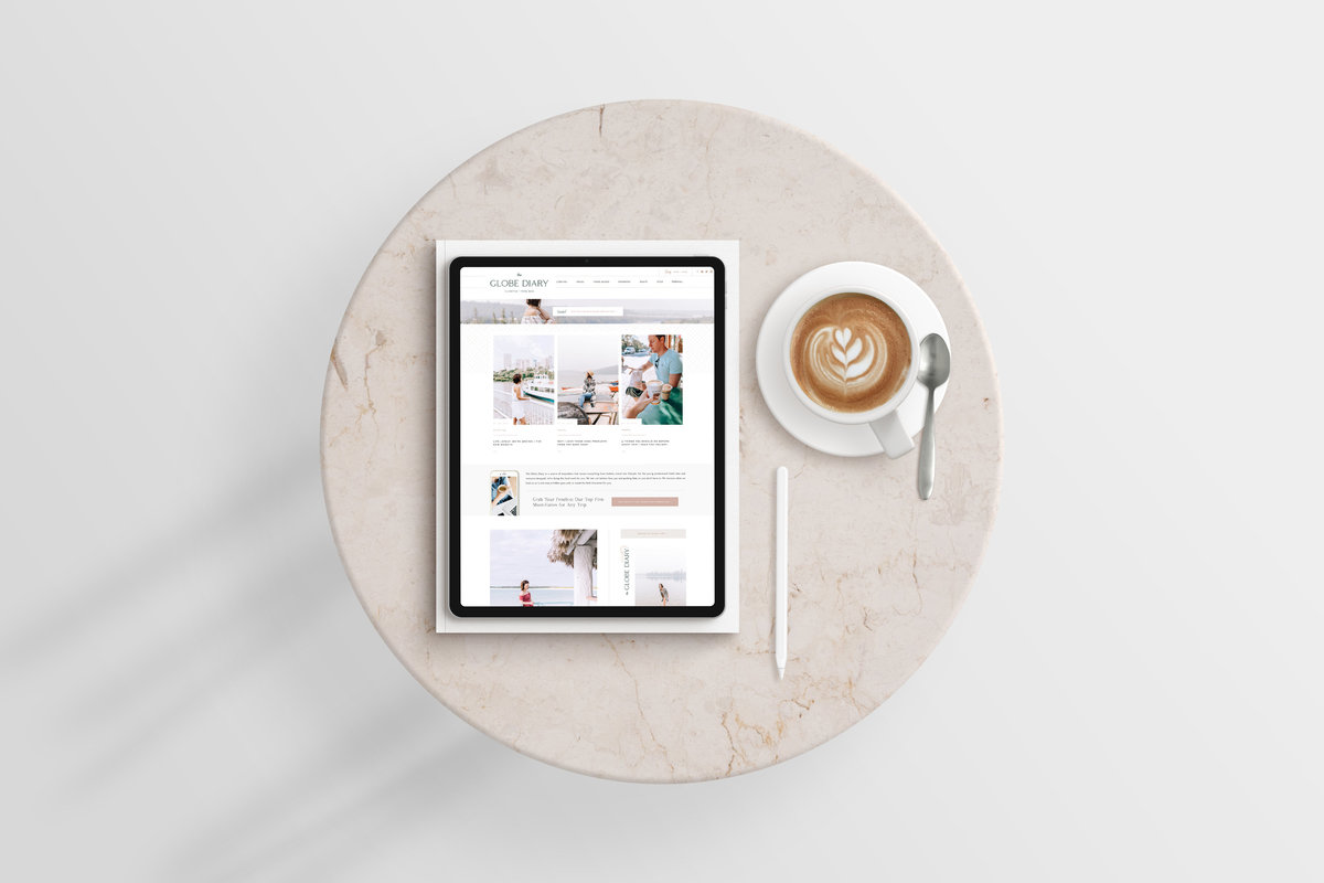 The Globe Diary by Leigh Dorkin - Custom Brand and Showit Web Design by With Grace and Gold - Showit Theme, Showit Themes, Showit Template, Showit Templates, Showit Design, Showit Designer - 10