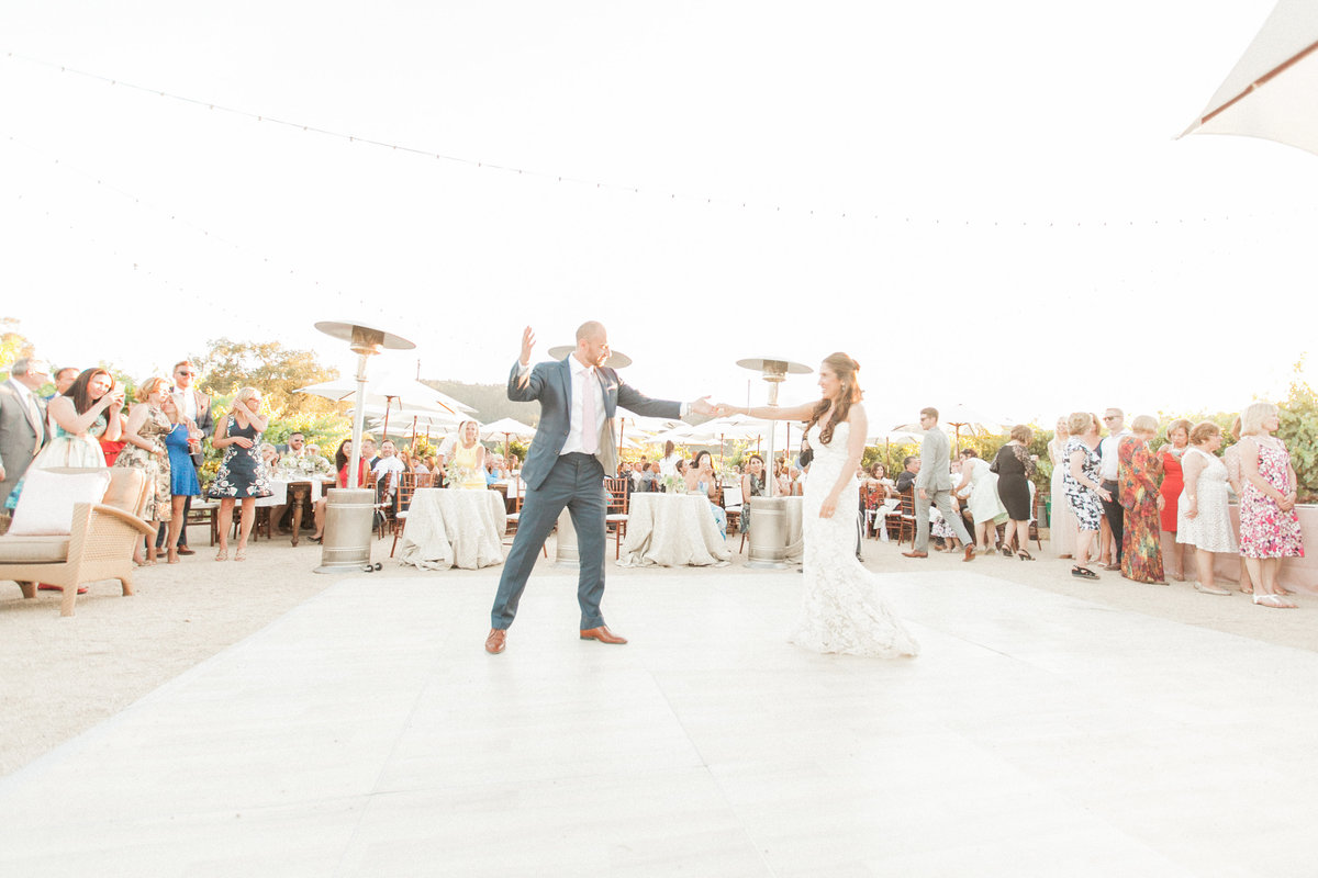 Outdoor First Dance Wedding