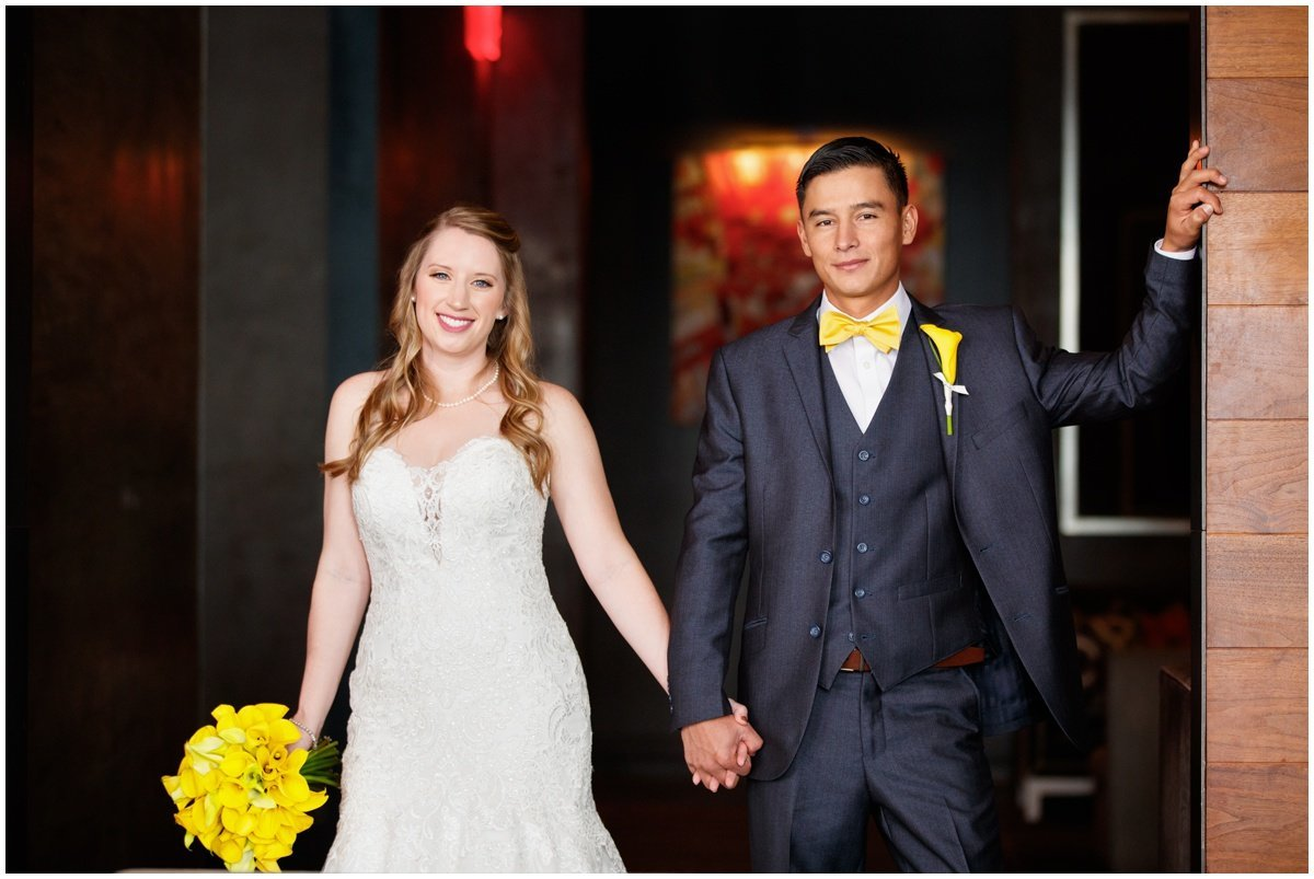 Austin wedding photographer w hotel wedding photographer bride groom smiling